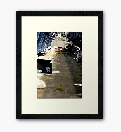 Trash 2- Yankee Stadium  Framed Print