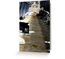 Trash 2- Yankee Stadium  Greeting Card