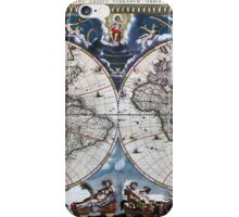 Antique old world map 1664 Restored iPhone Case/Skin