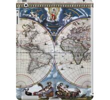 Antique old world map 1664 Restored iPad Case/Skin