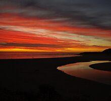 Margaret River at Sunset  by David Evans
