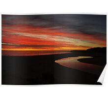 Margaret River at Sunset  Poster