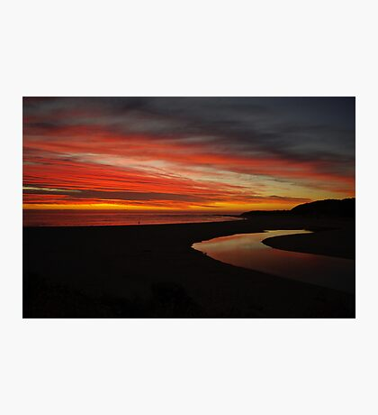 Margaret River at Sunset  Photographic Print