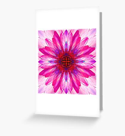 Lotus Mirror Abstract Greeting Card