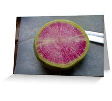 Watermelon Radish  Greeting Card