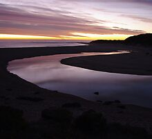 River of glass ,River mouth,Margaret River, Australia by David Evans