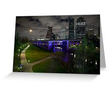 Downtown on the bayou Greeting Card