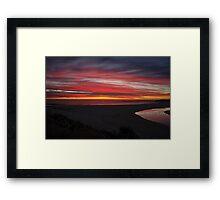 Beautiful sunset,Margaret river,W.A,Australia Framed Print