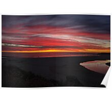 Beautiful sunset,Margaret river,W.A,Australia Poster