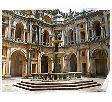 Convento de Cristo cloister. Poster