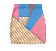 Modern Funk Striped Abstract Design Pencil Skirt