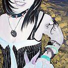 Renata and the white rabbit by Shane  Mclaren