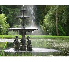 A country fountain Photographic Print