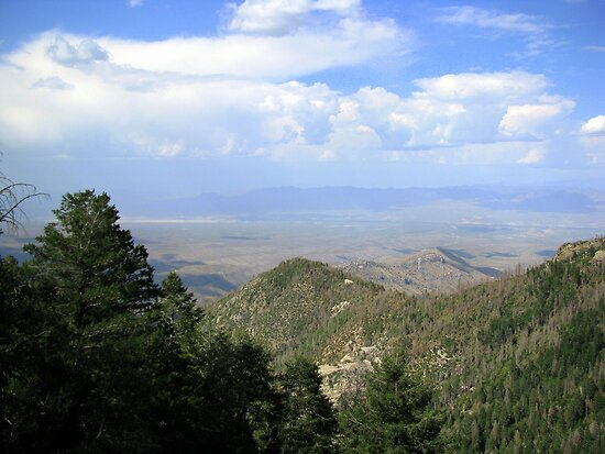 San Manuel, AZ ~ viewed from Catalina Mts by Kimberly Chadwick