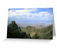 San Manuel, AZ ~ viewed from Catalina Mts Greeting Card