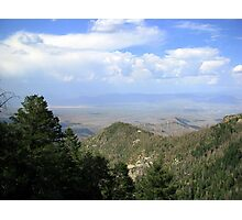 San Manuel, AZ ~ viewed from Catalina Mts Photographic Print