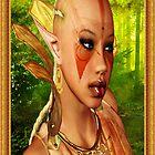 Forrest Ebony Elf Model Portrait by Junior Mclean