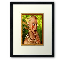 Forrest Ebony Elf Model Portrait Framed Print