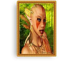 Forrest Ebony Elf Model Portrait Canvas Print