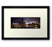 Yarra River by night Framed Print