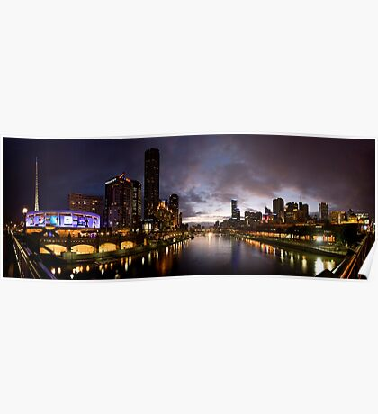 Yarra River by night Poster