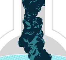 Inside a flask Sticker