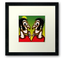 The furrowed brows of silence. Framed Print