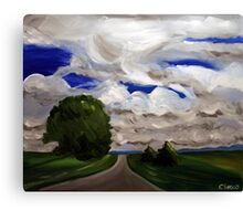 The Road. 24 x 30 Acrylic. Canvas Print