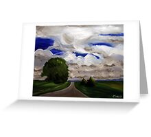 The Road. 24 x 30 Acrylic. Greeting Card