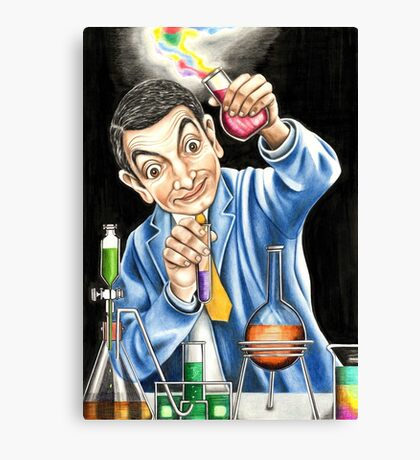 Mr Bean reaches for an explosive solution to his sticky refridgerator door. Canvas Print
