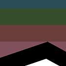 Dark Color Stripes Design by Melissa Park