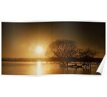 Sunbirth Over Taupo Lake  Poster
