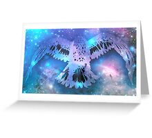 flight of the universe Greeting Card