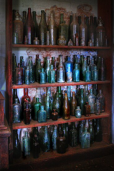 Old bottles ~ Monte Cristo by Rosalie Dale