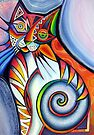 Abstract cat 3 by Karin Zeller