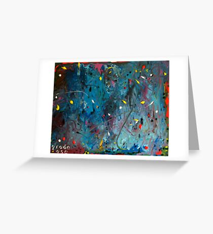 multi coloured sperm Greeting Card