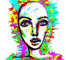 Psychedelic-Pop; Miss Peony Visio by zenbear