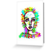 Psychedelic-Pop; Miss Peony Visio Greeting Card