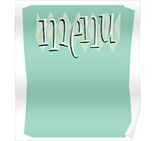 Retro Style Diner Menu Poster