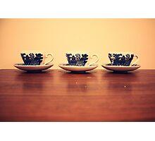 tea in teacups Photographic Print
