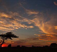 Sunset at Dog Rocks, Batesford by Graeme Buckland