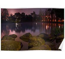 Foggy Dawn at Ringwood Lake #2 Poster