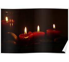 Red Candle Poster