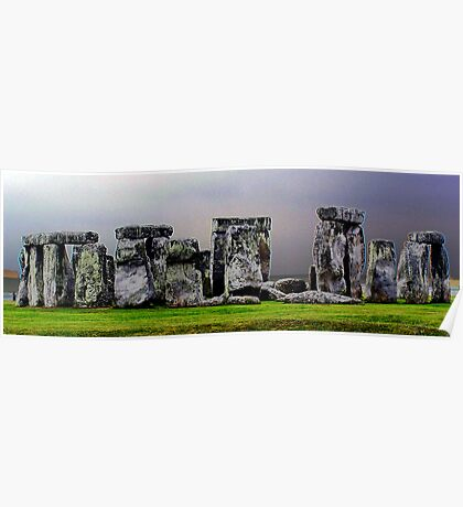`a different view of stonehenge` Poster