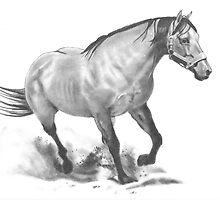 Running Stallion by Joyce