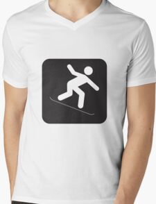 Snowboard Mens V-Neck T-Shirt