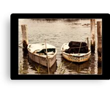 boats forster Canvas Print