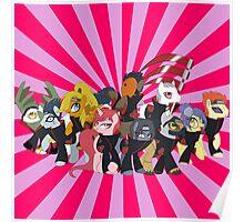 My Little Akatsuki with Pattern Poster