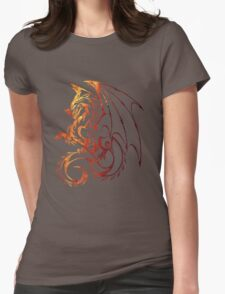 Dragon Space Womens Fitted T-Shirt
