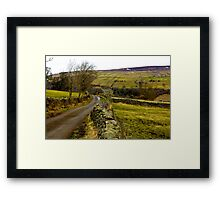 Dales Country Road. Framed Print